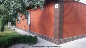 дом под клинкерными термопанелями