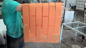 Клинкер-блок на стеклосетке
